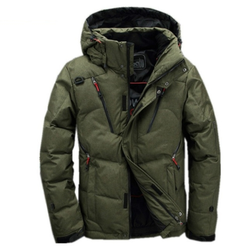 White Duck men coat male Clothing winter Down Jacket Outerwear, Size:L(Green)