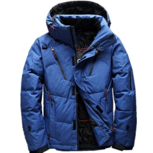 White Duck men coat male Clothing winter Down Jacket Outerwear, Size:XXXXL(Blue)